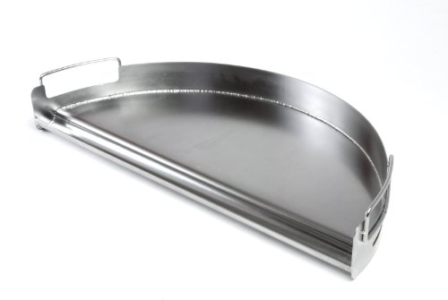 Charcoal Companion Stainless Pro Grill Griddle (Half Circle) - CC3509