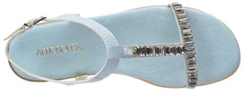 Aerosoles Womens Chronichle Flat Sandal Light Blue Sdku1B