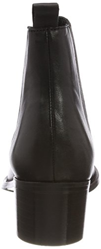 Femme Schwarz black Boots Dress Chelsea Bianco tqz7Y1