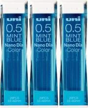 Uni Ball Lead Holder - Uni Color Pencil Lead 0.5 mm, Mint Blue, 10 Leads X 3 Pack/total 30 Leads (Japan Import)