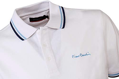 Polo À Contrastante Homme Classique Bordure Coupe Pierre Cotton Cardin White qUaptC