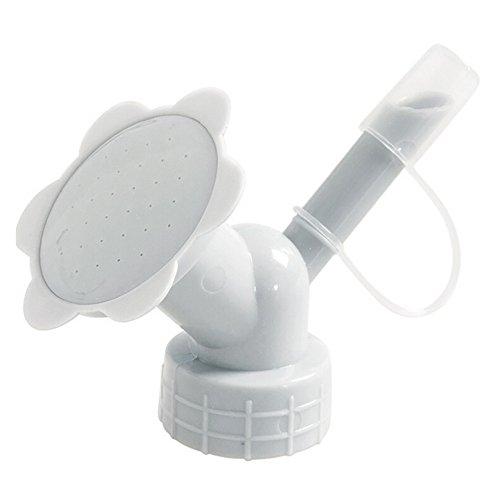 Irene Watering Cans Sprinkler 2In1 Plastic Sprinkler Nozzle For Flower Waterers (Gray)