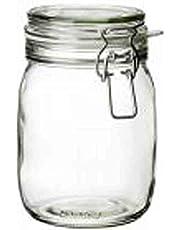 برطمان مع غطاء, زجاج شفاف