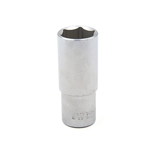 uxcell a17011200ux0191 Silver Tone Metal 1/2 Inches Square Drive 24mm Axle Nut Hexagon Socket for Car - Axle Mm 24