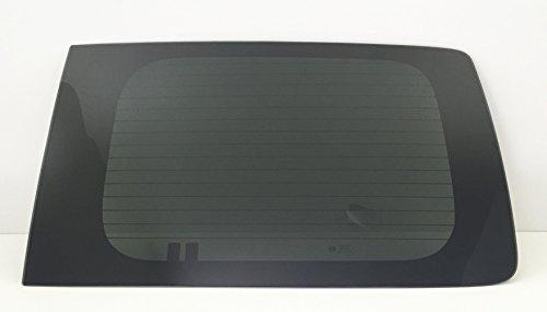 TYG Fits 2014-2018 Chevrolet City Express Cargo Van Back Window Glass Passenger Right Rear Heated