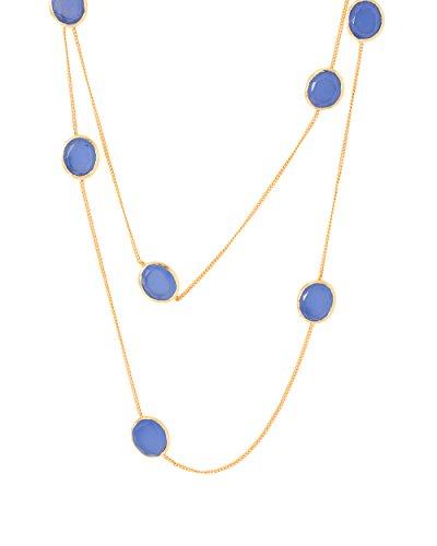 Voylla Women's Aqua Chalcy Stone Studded Necklace by Voylla