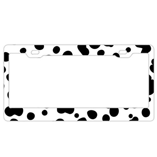 Personalized Custom Made Dalmatian Dog Metal License Plate Frame (Personalized Dalmatian)