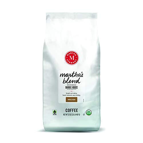 Martha Stewart Coffee By Barrie House | Organic Whole Beans | Martha's Blend Medium Roast | Certified Fair Trade | 2 lb…