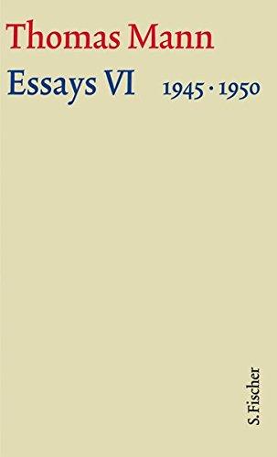 Essays VI 1945-1950: Text und Kommentar in einer Kassette (Thomas Mann, Große kommentierte Frankfurter Ausgabe. Werke, Briefe, Tagebücher) Gebundenes Buch – 13. Oktober 2009 Herbert Lehnert Thomas Mann Tagebücher) S. FISCHER