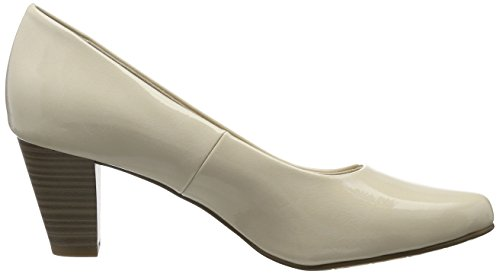 Decolleté Beige Donna 22430 Patent cream Chiuse Tamaris 452 BwOUgq4x