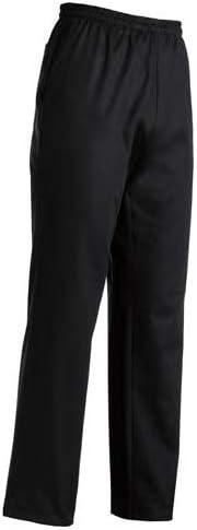 EgoChef Pantalone da Cuoco Coulisse Nero 65/% POL 35/% COT.