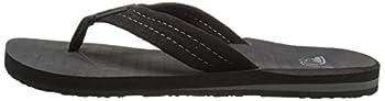 Quiksilver Men's Carver Suede 3-point Flip-flop, Solid Black, 14 M Us 4