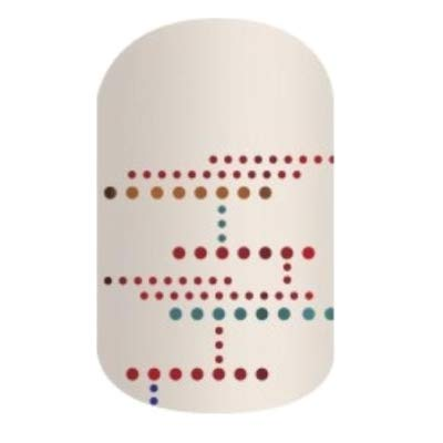 Borderline Bash - Jamberry Nail Wraps - Half Sheet - Colorful Geometric Dots on White