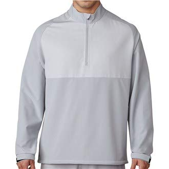 adidas Golf 2017 Competition Stretch Water-Resistant 1/4 Zip Mens Golf Wind Jacket Mid Grey XL