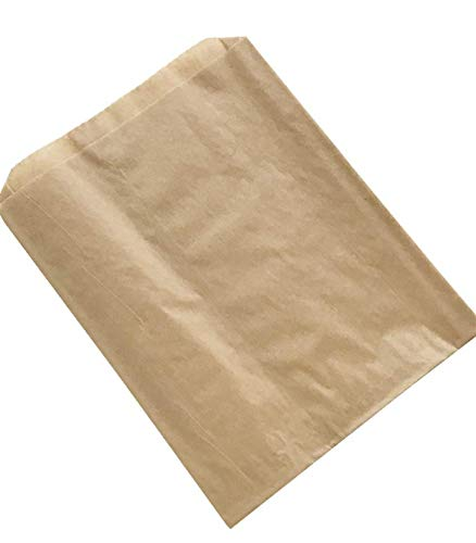 Plain Natural Kraft Sandwich Bag - Ideal for Pretzels and Sandwiches - Made in USA - 6.5 x 1 x 8 (Pack of 200)