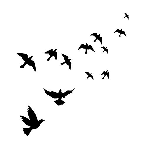 MLM Flying Black Bird Flying High to Sky 3D Creative Removable DIY Vinyl Wall Sticker Mural Decal Art Décor ()