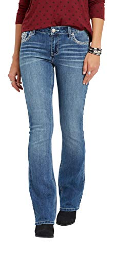 maurices Women's Denimflex Bootcut Jean - Bling Back Pocket Mid Rise