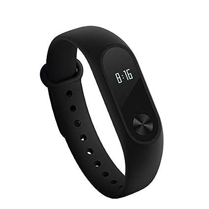 zhongzheng Original Xiaomi Band 2 Fitness Tracker Pulsera Pulsera Reloj OLED Touchpad - Negro