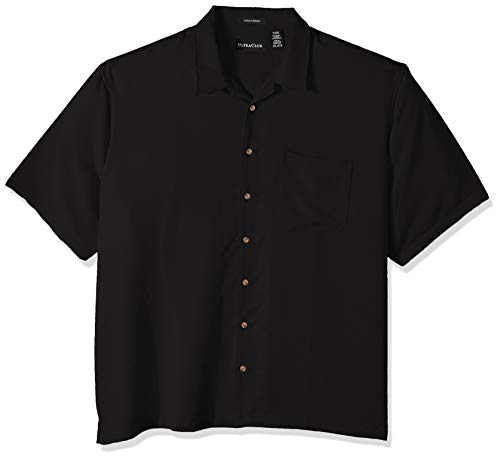 Clementine Men's ULTC-8980-Cabana Breeze Camp Shirt, Black, 5X-Large