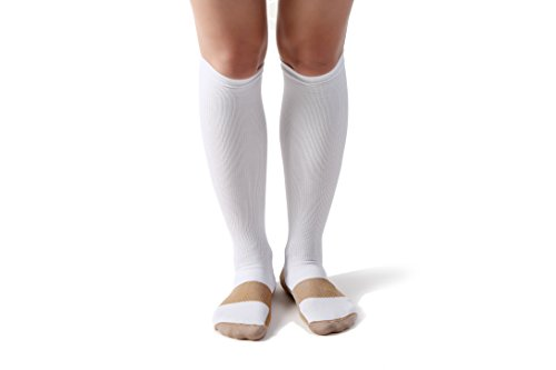 Sports Compression Socks 15-20mmHg Graduated -Best For Running,Athletic Sports,Crossfit, Flight Travel (Men & Women)-Suits Nurses,Maternity Pregnancy,Shin Splints -Below Knee High - Online Can You Use Boots Points