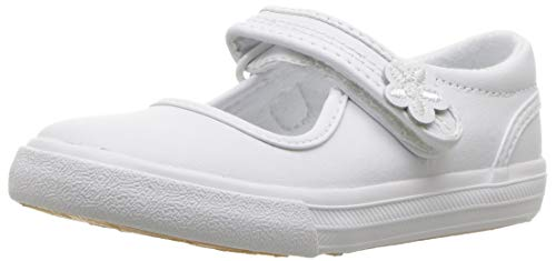 Keds Unisex-Chid Ella Mary Jane Sneaker ,White,9.5 M US Toddler (Infant Girls Shoes Keds)