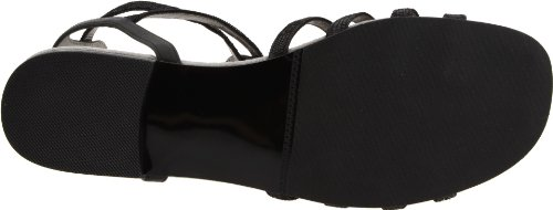 David Tate Womens Jenny Flat Black Kid