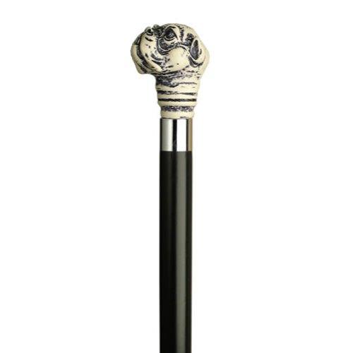 Scrimshaw Bulldog Head Cane, Black ()