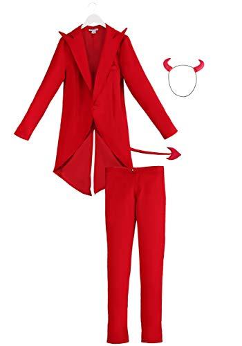 Adult Red Suit Devil Costume Devil Costume for Men Medium