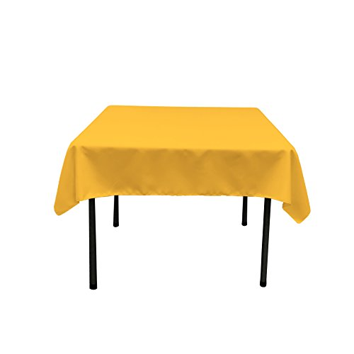 LA Linen Polyester Poplin Square Tablecloth, 58