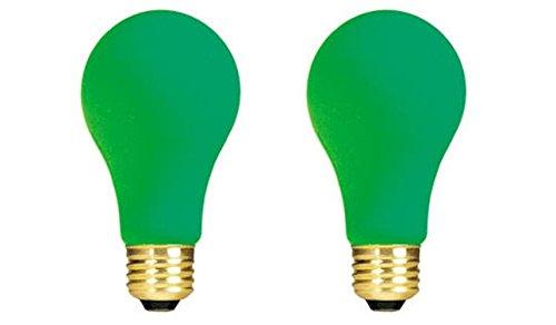(Bulbrite 40A/CG 40-Watt Incandescent Standard A19, Medium Base, Ceramic Green [2 Pack])