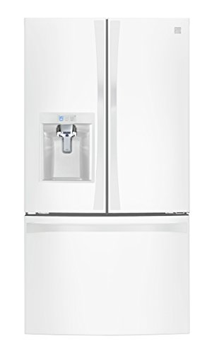 Kenmore 4675042  Smart 24 cu. ft. Counter Depth French Door Bottom Freezer Refrigerator in White – Works with Amazon Alexa, includes delivery and hookup (Available in select cities only)