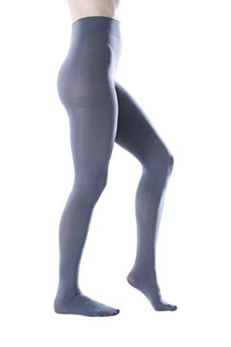 Felicity Womens Opaque Pantyhose, 80 Denier, Matte Soft Comfortable Waistband (Charcoal - Matte Color Gray