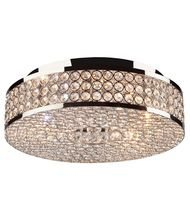 Artcraft Lighting Bella Vista Flush Mount, Stainless Steel