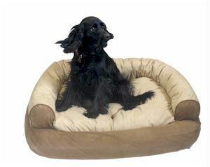Snoozer Overstuffed Luxury Pet Sofa, Large, Buckskin, My Pet Supplies