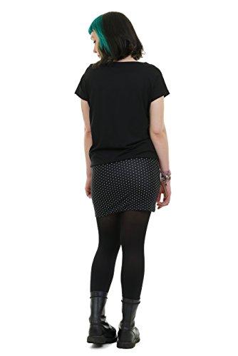 Puntos Corto Mini producido 3Elfen Vestido Vestidos Mujer Pixie Negro Verano Berlín en Brazo qCOwpx70