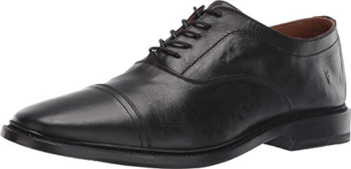 FRYE Men's Paul Bal Oxford Black Smooth Pull Up 11 D US