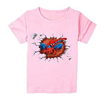 FMstyles Light Pink Round Neck T-Shirt For Unisex
