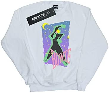 Absolute Cult David Bowie Damen Moonlight Dance Sweatshirt Weiß Medium