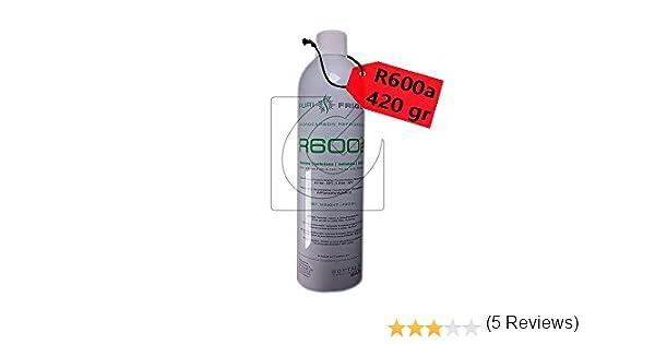Manguera Botella Gas Refrigerante R600 Valvula 420gr Isobutano