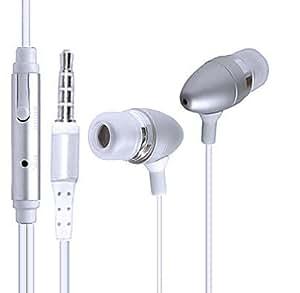 Wayzon plata sonido estéreo manos libres auriculares con micrófono en línea-remoto para LG GS200