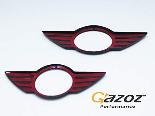 Front /& Rear Glossy Black Emblem Badge Cover For 14-18 Mini Cooper F55 F56 F57