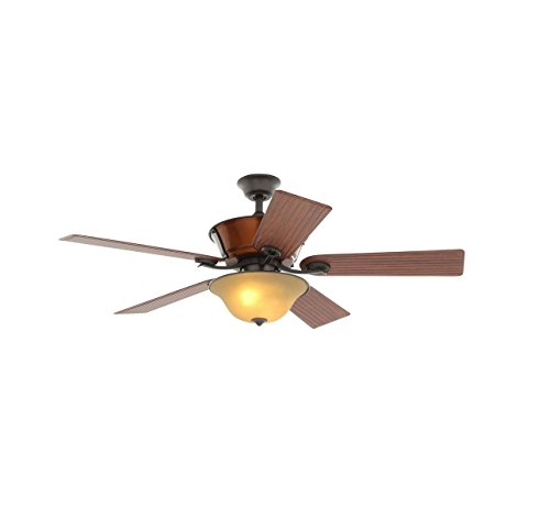 Hampton Bay Radcliffe 52 in. Indoor/Outdoor Natural Iron Ceiling Fan with Light Kit and Remote ()