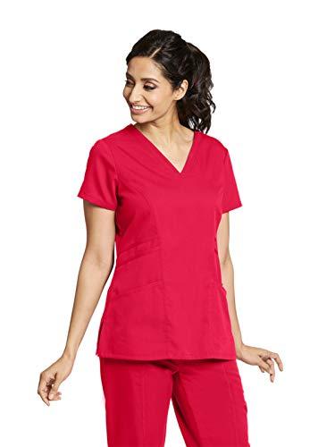 Grey's Anatomy 41452 V-Neck Top Scarlet Red S