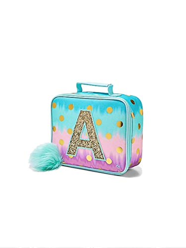 Justice School Lunch Tote Dot Ombre Foil Initial (letter A) (Foil Dots)