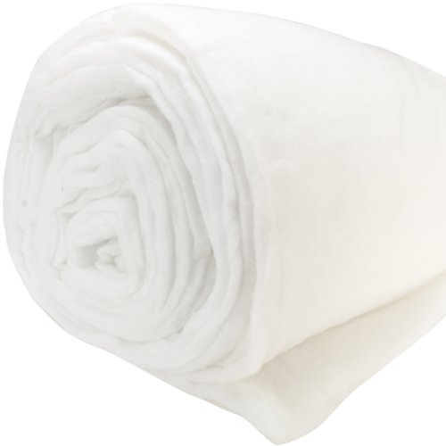 Polyester Batting Medium To High Loft 12oz Per Yard-Double Rolled 100''X25 Yards by Air Lite