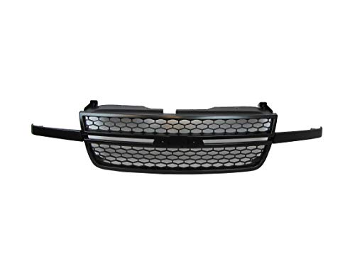 Fits 2006-2007 Chevy Silverado 1500 (07 Classic Only) / 2005-2007 Silverado 2500 3500 Ss Model (07 Classic Only) W/O Dale Earnhardt Package Grille Black Frame With Gray Inserts (Paintable) GM1200586