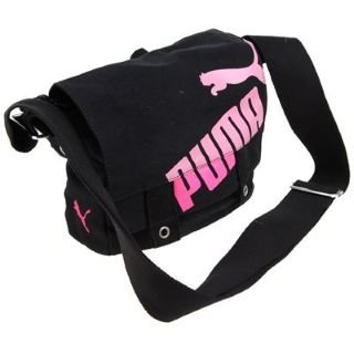 7fb6af2fd646 Puma Urban Shoulder Bag Ladies Black Pink Small  Amazon.co.uk  Clothing