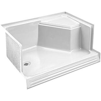 KOHLER K 9489 0 Memoirs 60 Inch Shower Receptor, White