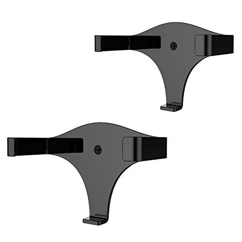 eBoot Wall Mount Holder Bracket for Amazon Echo Dot 2nd Generation, Black, 2 Pack