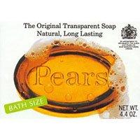 Pears Glycerine Soap - Pears Natural Glycerine The Original Transparent Soap - 4.4oz, 4 Packs
